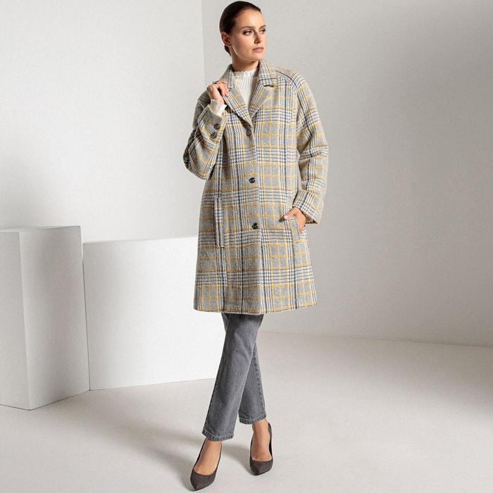 Manteau a carreaux gris