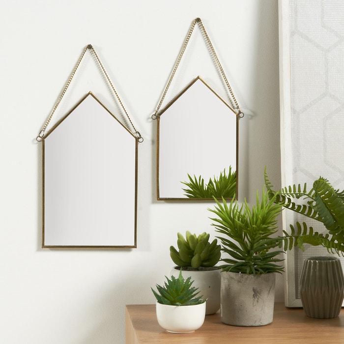 otra imagen de lote de espejos forma casa uyova la redoute interieurs