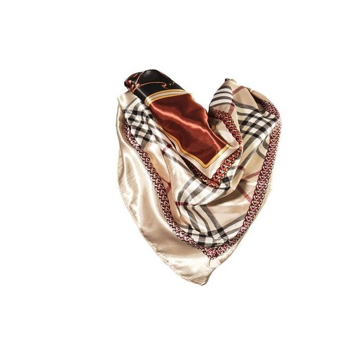 Foulard motif brun avec sa pochette cadeau marron Versace 19.69   La Redoute 95623ea7d0a