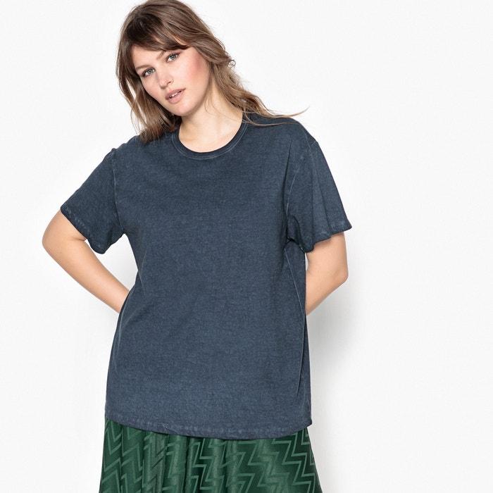 de Camiseta CASTALUNA con cuello corta manga 100 algod redondo 243;n lisa FEEqwA
