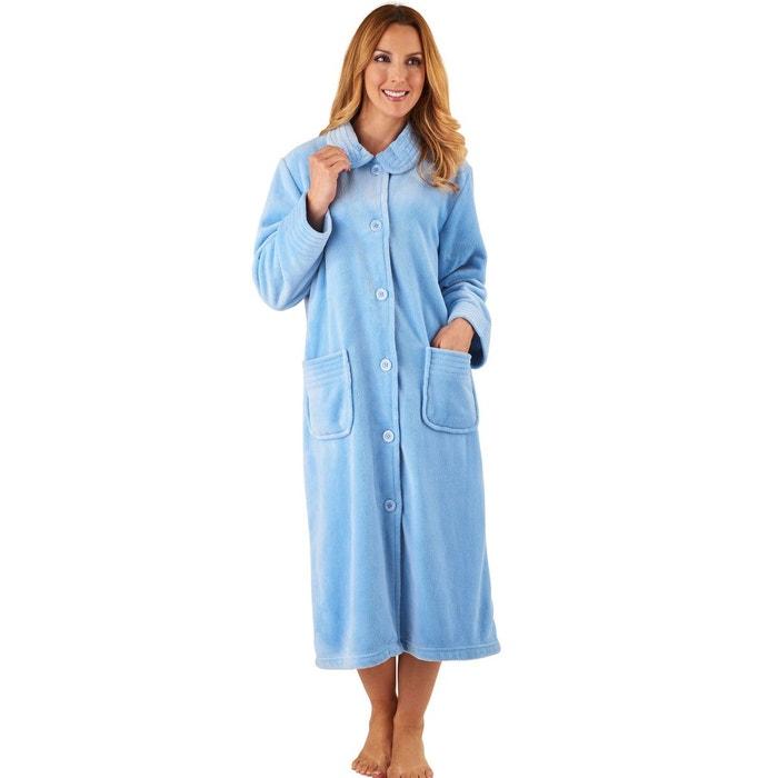 Robe de chambre longue couleur unie slenderella la redoute - La redoute robe de chambre ...