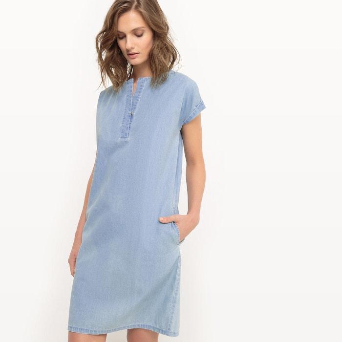 Image Straight Light Denim Dress La Redoute Collections