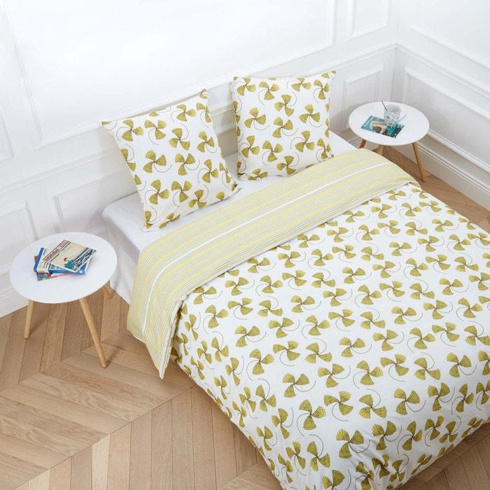 parure de lit helix jaune et blanc madura la redoute. Black Bedroom Furniture Sets. Home Design Ideas