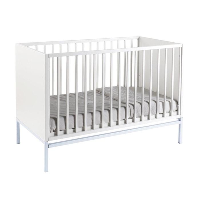 lit b b stretto chrom blanc quax la redoute. Black Bedroom Furniture Sets. Home Design Ideas
