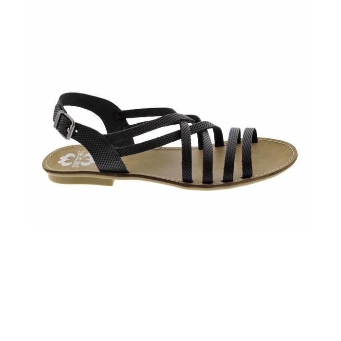 Sandales vaquetilla negro e16 noir Porronet