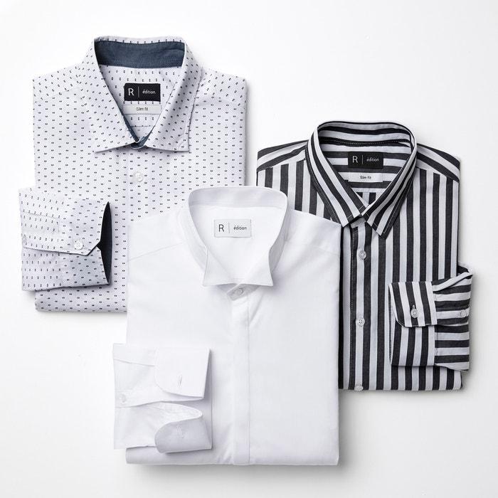 slim estampada Camisa Redoute Collections La YwxCqzYB7