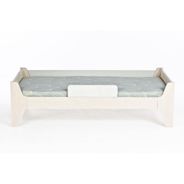 lit enfant avec sommier naturel blanc 70x160 naturel blanc alfred et compagnie la redoute. Black Bedroom Furniture Sets. Home Design Ideas