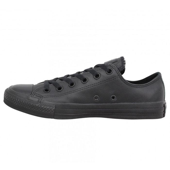 Baskets chuck taylor all star ox mono cuir noir Converse