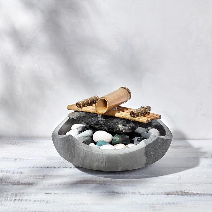 Fontaine bali en pierre gris nature et decouvertes la for Fontaine interieur bambou
