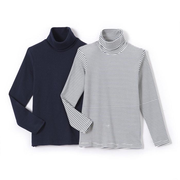 Camisola de gola alta de mangas compridas, 3-12 anos (lote de 2)  La Redoute Collections image 0