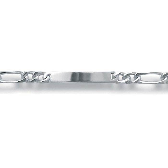 Bracelet 18 cm identité gourmette 1 + 3 luxe largeur 6 mm argent 925 couleur unique So Chic Bijoux | La Redoute Le Meilleur Magasin Pour Obtenir Pas Cher Large Gamme De o7fSFw