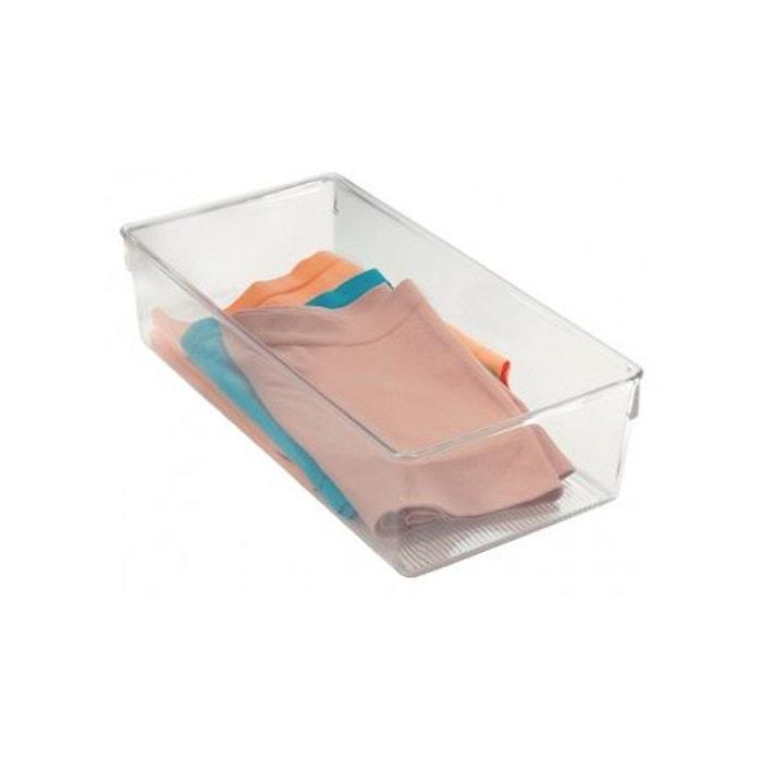 Bo te de rangement rectangulaire transparent home bain for Boite a couture la redoute