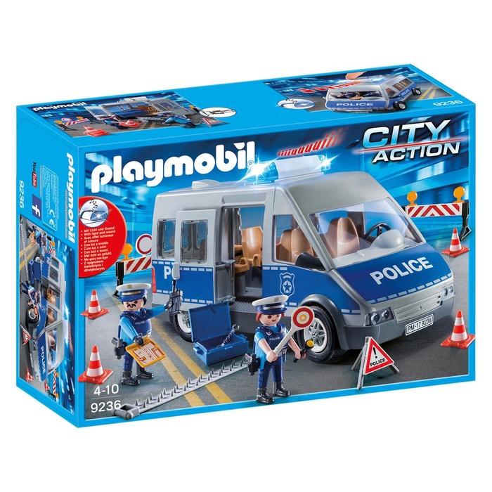 fourgon de policiers avec matriel de barrage 9236 playmobil 1 - Policier Playmobil
