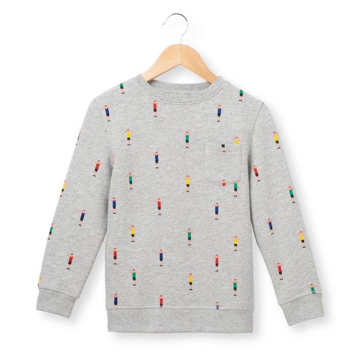 afbeelding Bedrukte sweater met ronde hals 3-12 jr La Redoute Collections