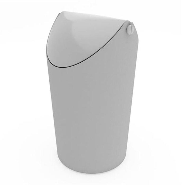 poubelle koziol jim 3 l gris koziol la redoute. Black Bedroom Furniture Sets. Home Design Ideas