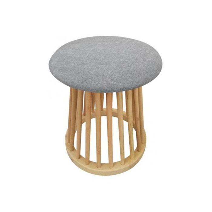 tabouret style scandinave gris odin gris declikdeco la redoute. Black Bedroom Furniture Sets. Home Design Ideas