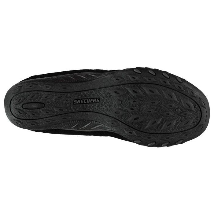 Chaussures décontractées en cuir noir, gris Skechers