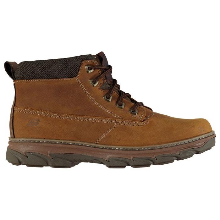 Bottes chukka habillé en cuir  marron Skechers  La Redoute