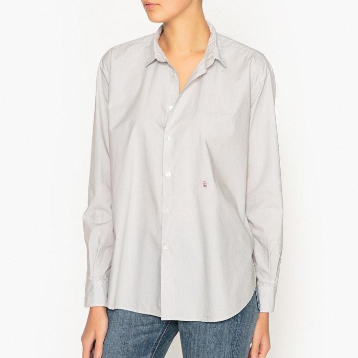 chemise en pur coton gaston bellerose gris clair la redoute. Black Bedroom Furniture Sets. Home Design Ideas
