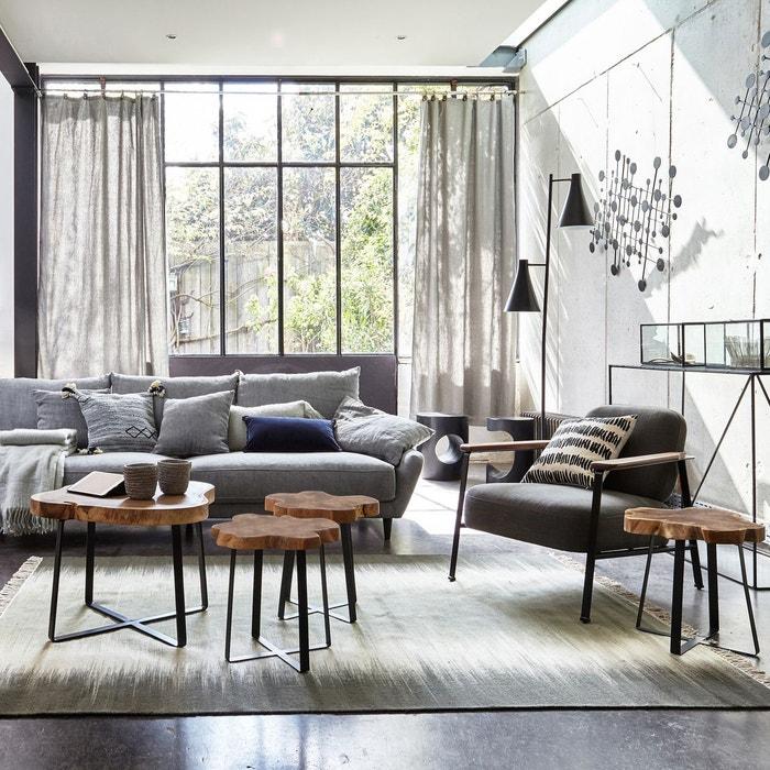 bout de canap bois de suar sicamor am pm la redoute. Black Bedroom Furniture Sets. Home Design Ideas