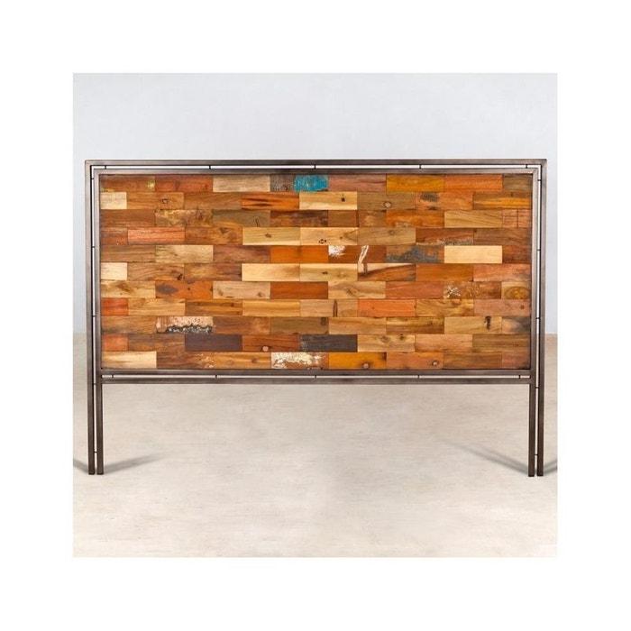 Tête de lit bois recyclé 160cm caravelle couleur unique
