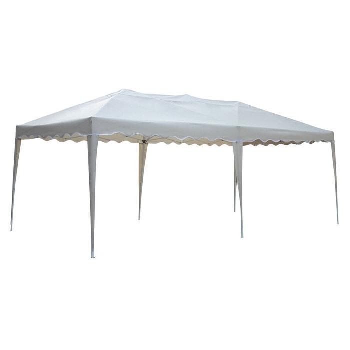 tente de r ception zephir pliante 3x6m beige beige happy garden la redoute. Black Bedroom Furniture Sets. Home Design Ideas