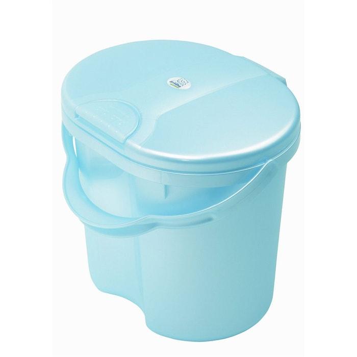 Poubelle couches bleu perle rotho bleu rotho for Poubelle chambre bebe