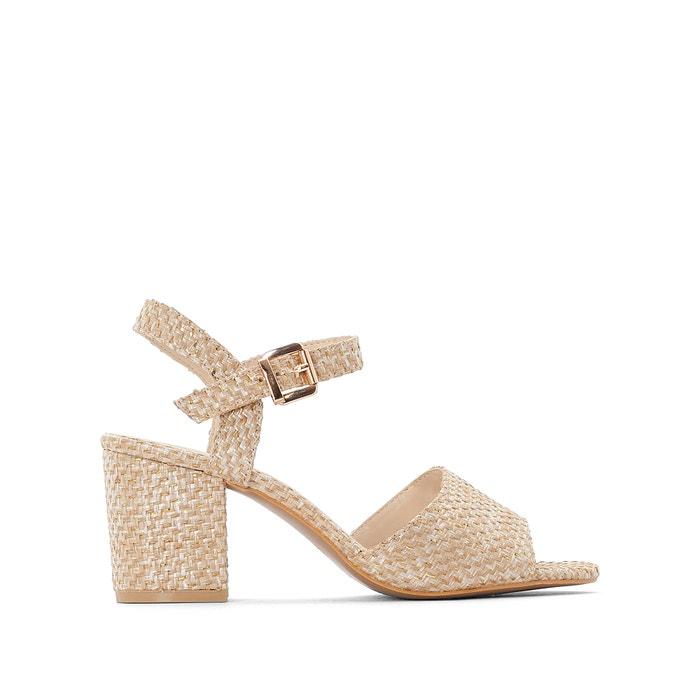 f054d0ee43d Woven block heel sandals