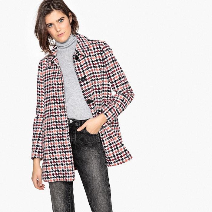 Manteau mi long à carreaux, laine mélangée  LA REDOUTE COLLECTIONS image 0