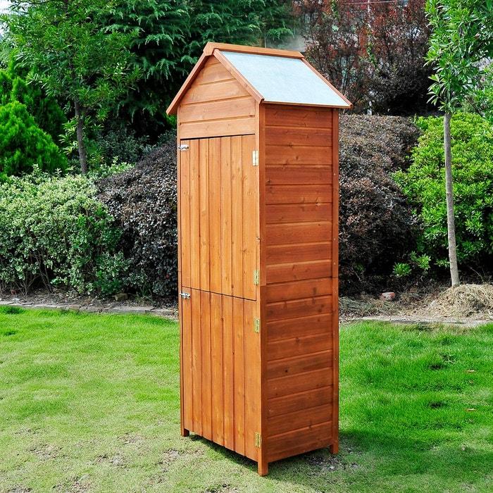 Armoire de jardin en bois marron Homcom | La Redoute