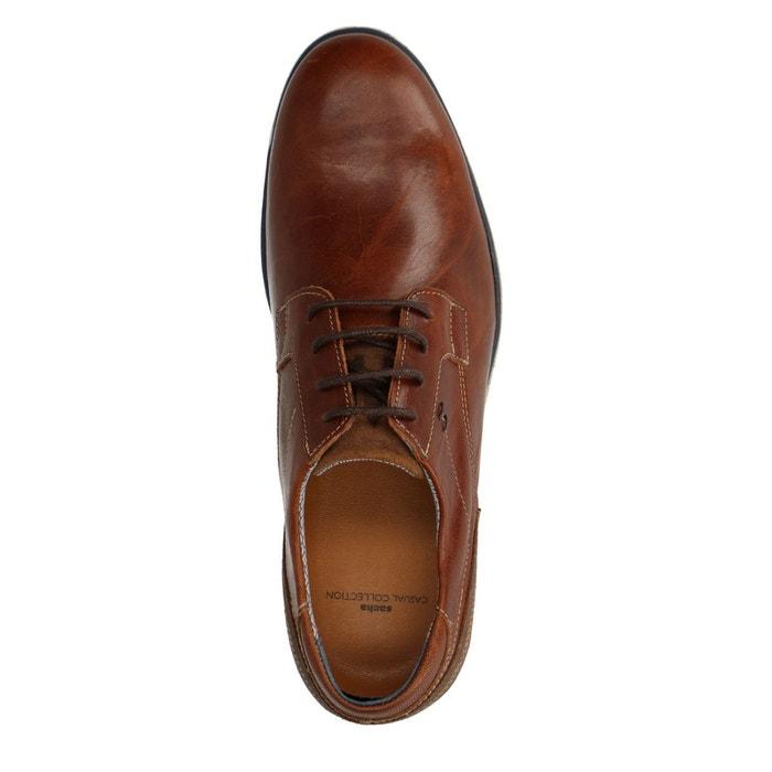 Chaussures à lacets en cuir marron Sacha