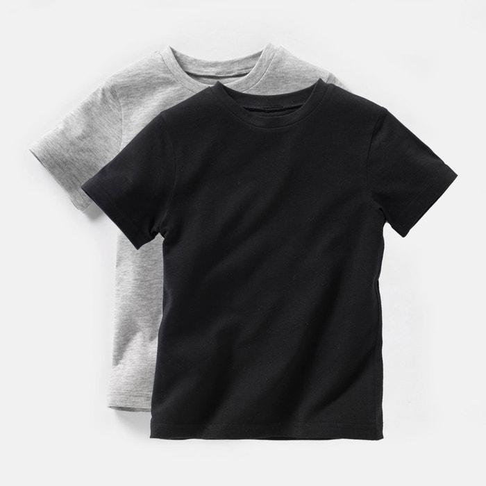 Confezione da 2 t-shirt tinta unita 3 - 12 anni  La Redoute Collections image 0