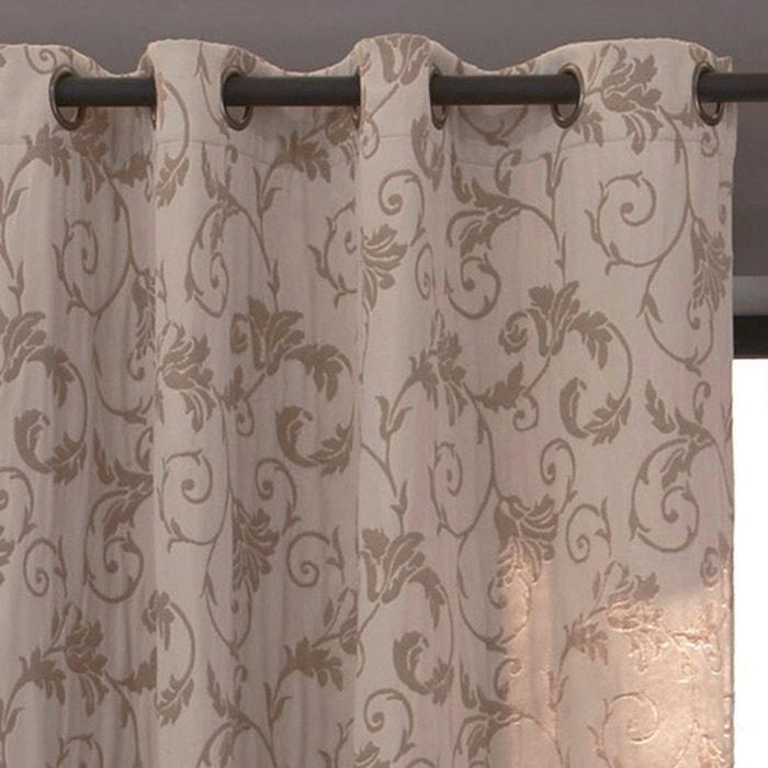 Image Valina Jacquard Single Curtain with Eyelet Header La Redoute Interieurs