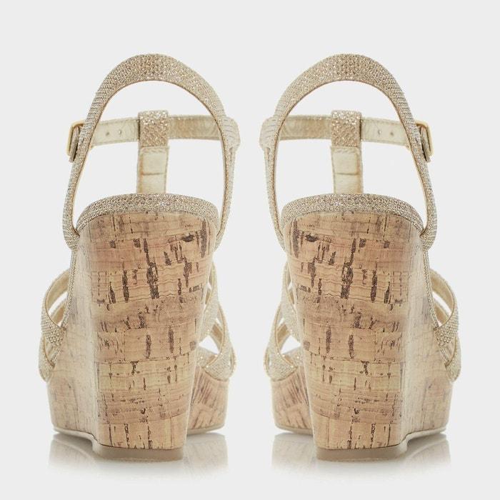 Sandales style salomé à semelles compensées en liège - keeli Head Over Heels By Dune