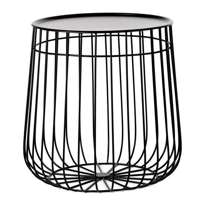 Table Basse Ronde Rangement Design Metal Wire