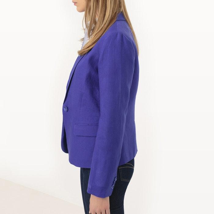Redoute Collections de y 243;n algod blazer Chaqueta La lino FvUwfFq
