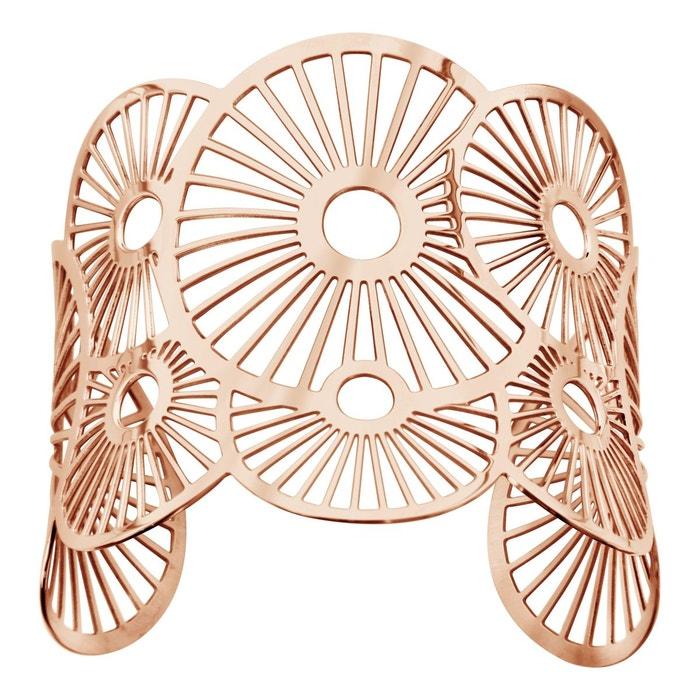 Bracelet manchette soleils rose acier inoxydable couleur unique So Chic Bijoux | La Redoute Clairance Paquet De Compte À Rebours Vc6jJb82T