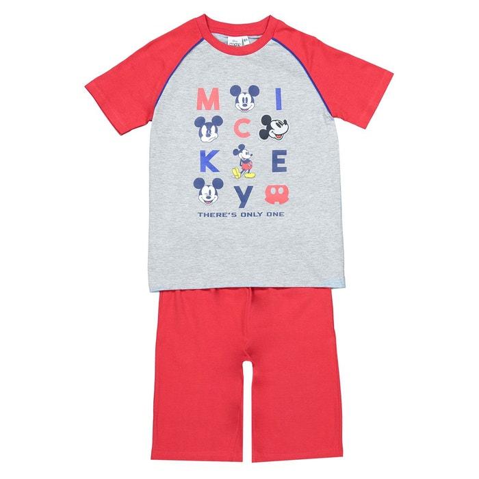 baa4b663357a4 Pyjashort 3-10 ans rouge Mickey Mouse | La Redoute