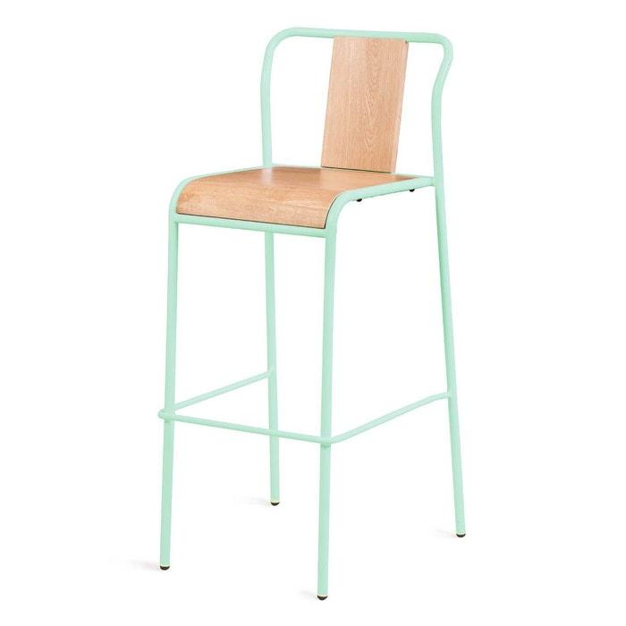 2x chaise de bar ch ne et m tal spirit couleurs des alpes. Black Bedroom Furniture Sets. Home Design Ideas