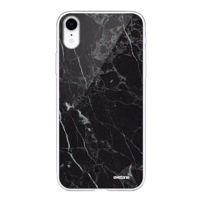 coque iphone xr noir marbre