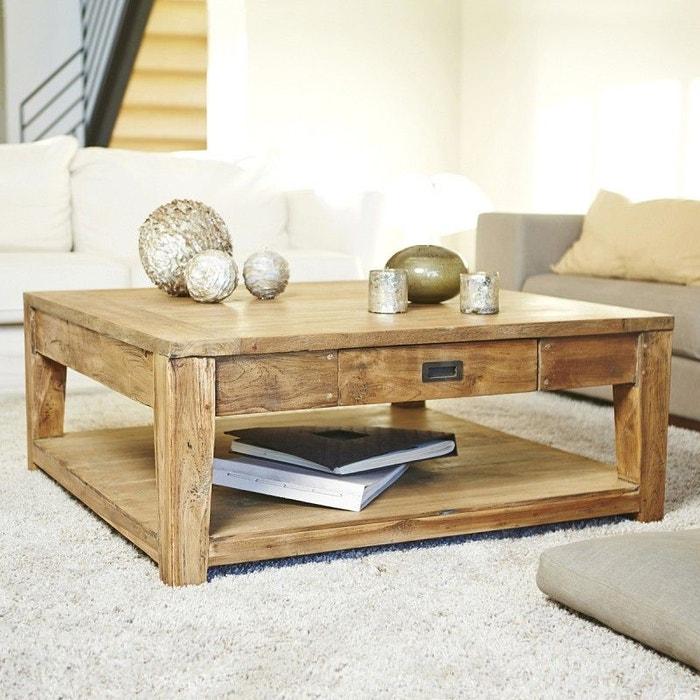table basse en bois de teck recycl 100 cargo couleur unique bois dessus bois dessous la redoute. Black Bedroom Furniture Sets. Home Design Ideas