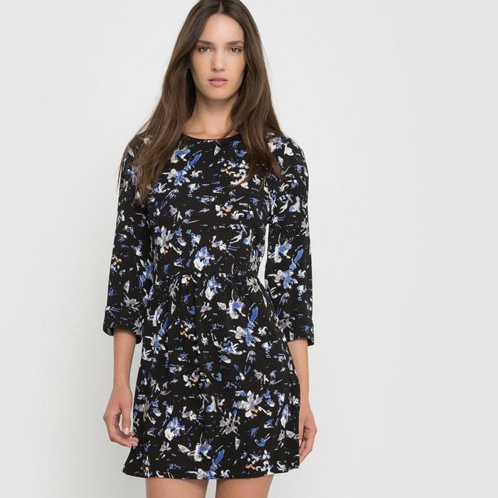 Printed 3/4 Sleeve Dress.