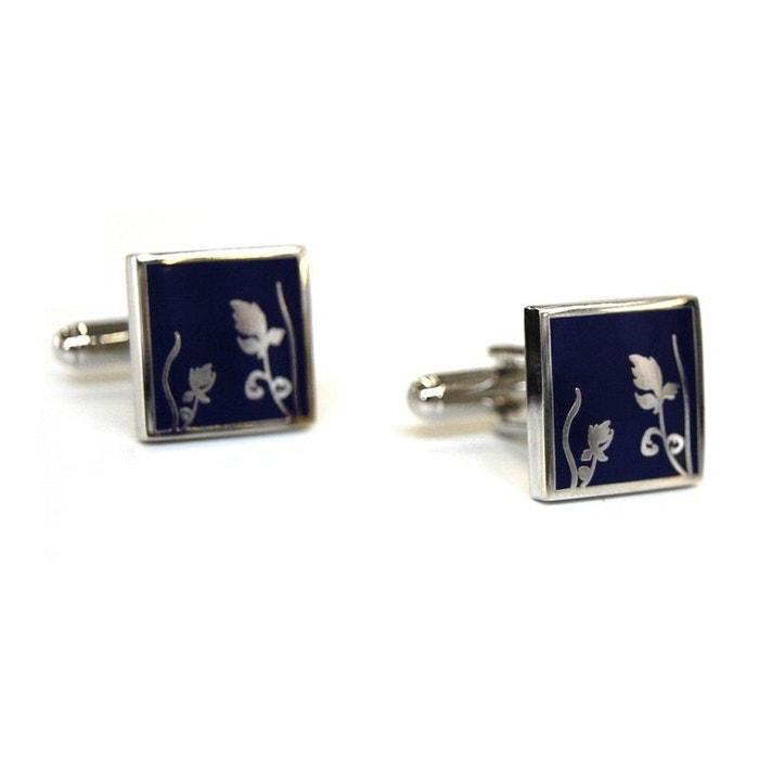 Bouton de manchette tyler & tyler, spring silver metal, navy bleu Tyler Et Tyler | La Redoute