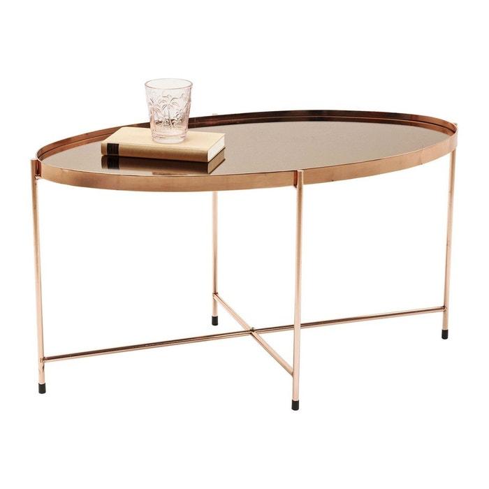 Table basse Miami ovale or rose 83x40cm Kare Design KARE DESIGN
