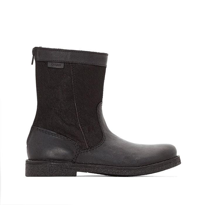Boots bimatière lexy noir Kickers Vente Exclusive Exclusif À Vendre Qualité Supérieure De Vente Pas Cher EGxnT