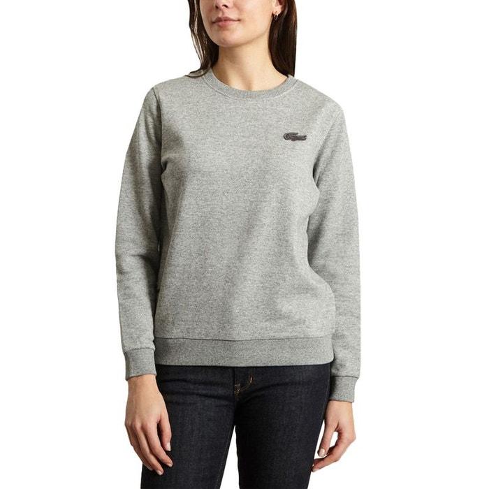 2386acf3c1 Sweatshirt classique gris Lacoste Live | La Redoute