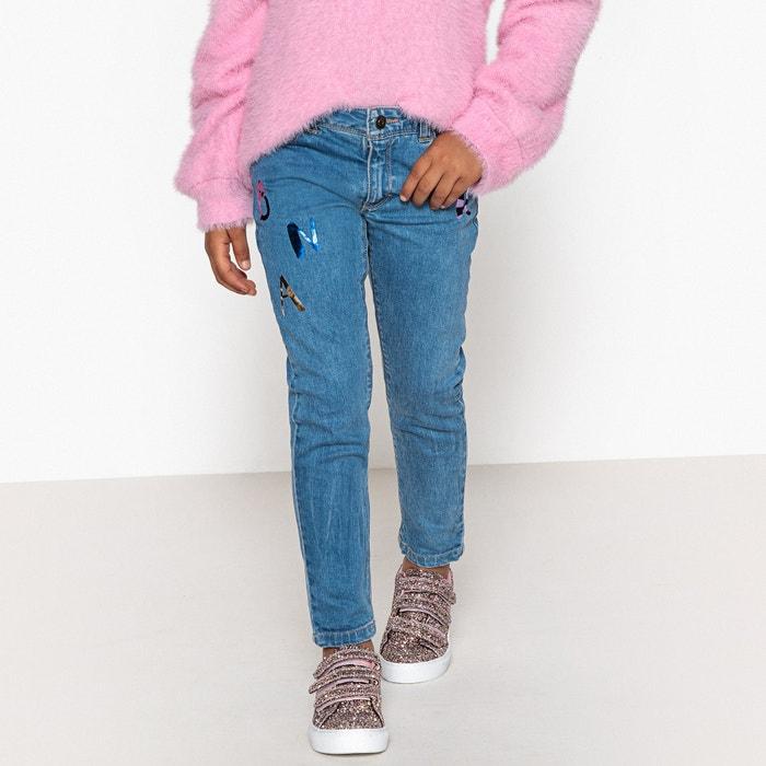 Jeans skinny fantasia lettere brillanti  La Redoute Collections image 0