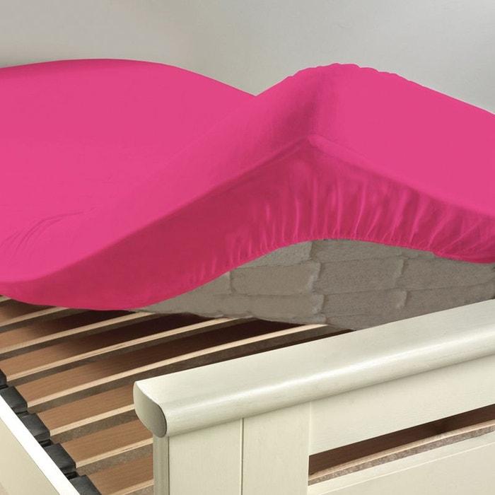 drap housse 2 personnes 160 x 200 cm uni 57 fils lina home maison la redoute. Black Bedroom Furniture Sets. Home Design Ideas