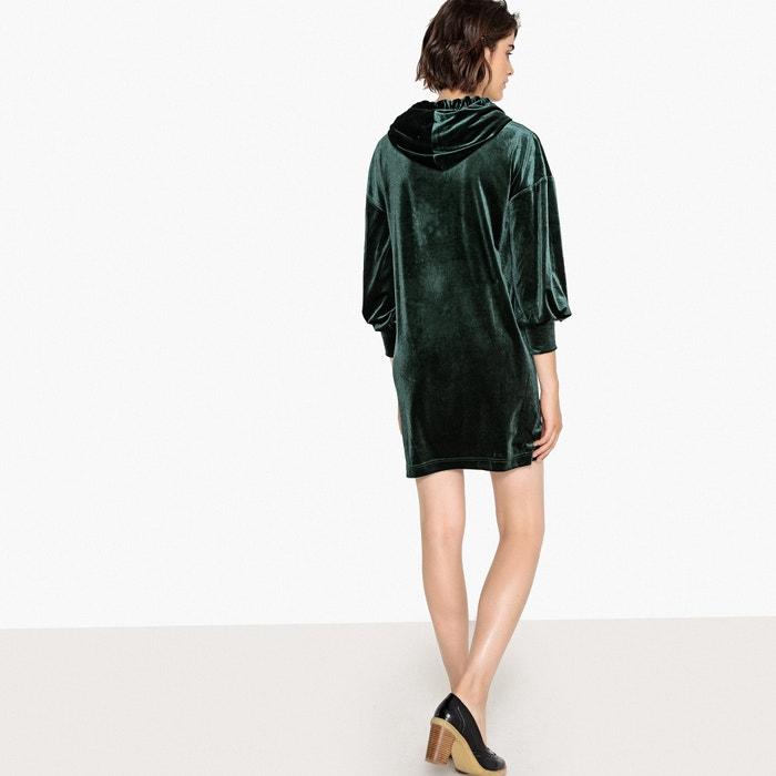 Vestido sudadera Collections Redoute aterciopelado de con La tejido capucha estilo EwgqTBnwC