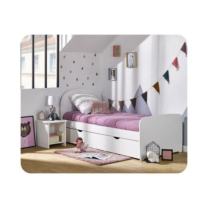 pack lit enfant gigogne luen 90x190 cm avec matelas blanc ma chambre d 39 enfant la redoute. Black Bedroom Furniture Sets. Home Design Ideas
